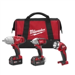 Milwaukee 2696-23 M18 Cordless 3-Tool Combo Kit