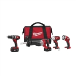 Milwaukee 2696-24 M18 Cordless LITHIUM-ION 4-Tool Combo Kit