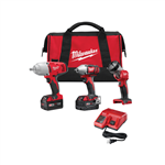Milwaukee 2896-23 M18 FUEL Cordless Lithium-Ion 3 Tool Combo Kit