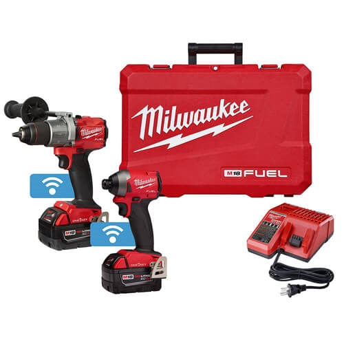 Milwaukee 2996-22 M18 FUEL 2-Tool Hammer Drill and Impact Driver with ONE-KEY Combo Kit