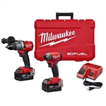 Milwaukee 2999-22 M18 FUEL Hammer Drill/Driver and Hex Hydraulic Driver Kit