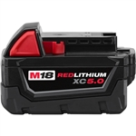 48-11-1850 M18 REDLITHIUM XC5.0 Extended Capacity Battery Pack by Milwaukee Batteries