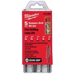 Milwaukee  48-20-8851 Hammer-Drill 5 Pc Kit