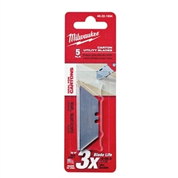 48-22-1934 - Milwaukee 5 Pc Carton Utility Knife Blades - 48221934