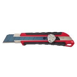 Milwaukee 25mm Snap Off Knife with Metal Lock and Precision Cut Blade - 48-22-1962