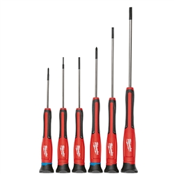 Milwaukee Hand Tools-Screwdrivers: 48-22-2606 6 PC Precision Screwdriver Set w/ Case