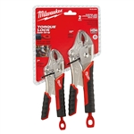 48-22-3402 2pc TORQUE LOCK Curved Jaw Locking Pliers Set by Milwaukee Tools