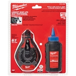 Milwaukee 48-22-3982 100 Foot Bold Line Chalk Reel Kit w/ Blue Chalk