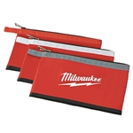 48-22-8193 3 Pk Zipper Pouches by Milwaukee Accessories