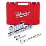 Milwaukee 48-22-9410 1/2 in. Drive 22pc Ratchet and Socket Set – SAE