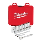 Milwaukee 48-22-9504 1/4 in. Drive 28pc Ratchet and Socket Set - Metric