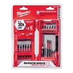 Milwaukee 48-32-4403 18 pc. SHOCKWAVE Impact Duty Driver Bit Set