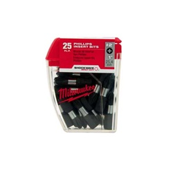 "Milwaukee 48-32-4607 #2 Square Recess Shockwave™ 1"" Insert Bit Contractor Pack"