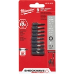 "48-32-4616 SHOCKWAVE 9PC Hex 1"" Insert Bit Set by Milwaukee Accessories"