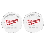 Milwaukee 48-40-1036 Circular Saw Two-Pack Wood Cutting Blades 10 in. 40T + 60T