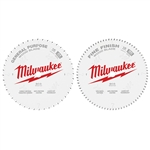 Milwaukee 48-40-1232 Circular Saw Two-Pack Wood Cutting Blades 12 in. 44T + 80T