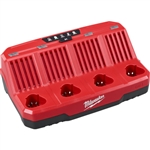 48-59-1204 M12 Four Bay Sequential Charger Only by Milwaukee Accessories