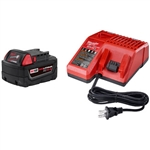Milwaukee 48-59-1850 M18 REDLITHIUM XC 5.0 System Starter Kit