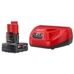Milwaukee 48-59-2440 M12 REDLITHIUM XC4.0 Starter Kit