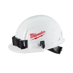 Milwaukee 48-73-1000 Front Brim Hard Hat, Vented Class C, Large Logo, White