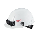 Milwaukee 48-73-1001 Front Brim Hard Hat, Vented Class C, Small Logo, White