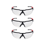 Milwaukee 48-73-2050 Clear Safety Glasses 3 Pack