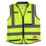 Milwaukee 48-73-5044 High Visibility Yellow Performance Safety Vest - 4X/5X