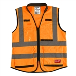 Milwaukee 48-73-5054 High Visibility Orange Performance Safety Vest - 4X/5X
