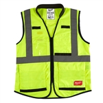 Milwaukee 48-73-5084 High Visibility Yellow Performance Safety Vest - 4X/5X CSA
