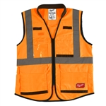 Milwaukee 48-73-5094 High Visibility Orange Performance Safety Vest - 4X/5X CSA