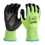 Milwaukee 48-73-8920 Hi-Vis Cut Level 2 Polyurethane Dipped Gloves