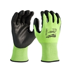 Milwaukee 48-73-8930 High-Visibility Cut Level 3 Polyurethane Dipped Gloves