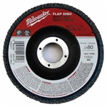 Milwaukee 48-80-8001 Flap Disc 4-1/2 X 7/8 60 Grit Pack Of 5