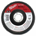 Milwaukee 48-80-8021 Flap Disc 5 X 7/8 60 Grit Pack Of 5