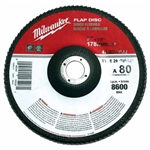Milwaukee 48-80-8032 Flap Disc 7 X 7/8 80 Grit Pack Of 5