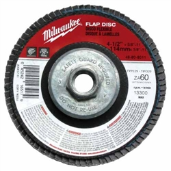 Milwaukee 48-80-8040 Flap Disc 7 X 5/8-11 36 Grit Pack Of 5