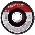 Milwaukee 48-80-8102 Flap Disc 4-1/2 X 7/8 80 Grit Pack Of 5