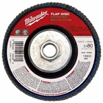 Milwaukee 48-80-8111 Flap Disc 4-1/2 X 5/8-11 60 Grit Pack Of 5