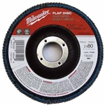 Milwaukee 48-80-8202 Flap Disc 4-1/2 X 7/8 80 Grit Pack Of 5