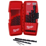 Milwaukee Drill Bit Set 21 Piece Thunder Bolt Black Oxide Heavy Duty Power Tool Red Case