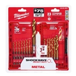 Milwaukee 48-89-4630 Kit 15 PC TiN Shockwave