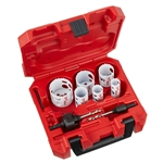 Milwaukee 49-22-4074 8 pc HOLE DOZER Locksmith's Hole Saw Kit