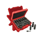 Milwaukee 49-66-4484 9 pc. 1/2 Inch Metric Deep Socket Set