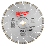 Milwaukee 49-93-7125 9 in. Diamond Universal Segmented Blade