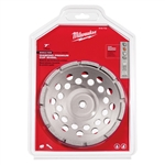 "Milwaukee 7"" Diamond Cup Wheel Single Rim 49-93-7720"