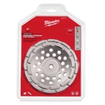 "Milwaukee 7"" Diamond Cup Wheel Double Rim 49-93-7770"