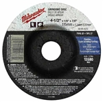 Milwaukee 49-94-4580 Metal Grinding Disc 4-1/2 X 1/4 X 7/8 Pk 10