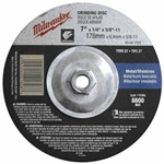 Milwaukee 49-94-7020 7 x 1/4 x 7/8 in. Grinding Wheel Type 27 10 Pack