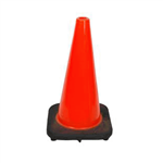 Mutual Industries 1358634 18 in. 3 lb. Plain Orange Traffic Cone