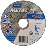 Norton 07660701617 Metal RightCut A AO Type 01/41 Right Angle Cut-Off Wheel, 4-1/2 x .04 x 7/8 in. 25pk